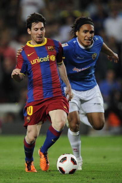Barcelona seguía dominando y cuando se terminaba el encuentro, Me...