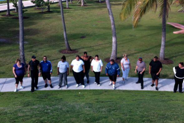 Los ejercicios son acompañados por una dieta saludable.