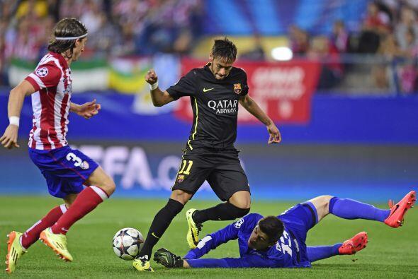 Neymar tuvo la ocasión más clara en favor del barcelonismo.