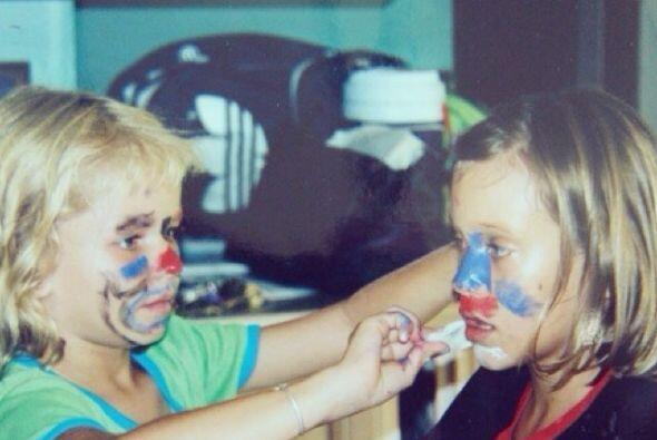 Desde chiquita adoraba maquillarse.