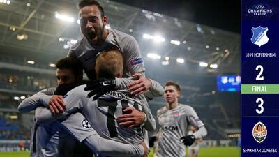 Shakhtar vence al Hoffenheim y mantiene posibilidades de Octavos en Champions