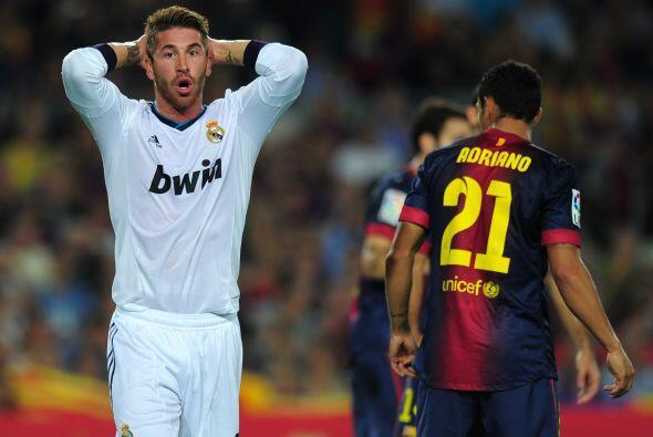 Aunque el cuadro que más tenía la pelota era el de casa, el Madrid en su...