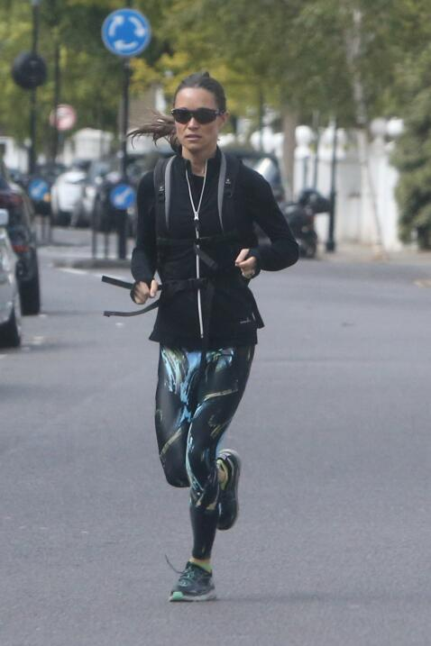 A Pippa Middleton le gusta ejercitarse, se preparó para lucier saludable...
