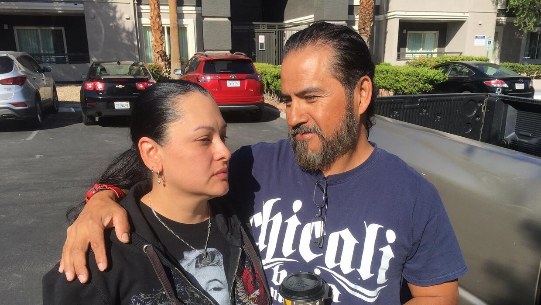 Karime Castillo y su esposo Gabriel Hernández, sobrevivientes del tirote...