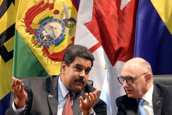 También participó el mandatario venezolano, Nicolás Maduro, en un discur...