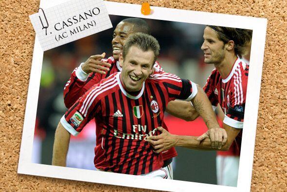 La media cancha sigue con Antonio Cassano.
