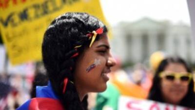 Lo venezolanos cumplieron tres meses de protestas antigubernamentales co...