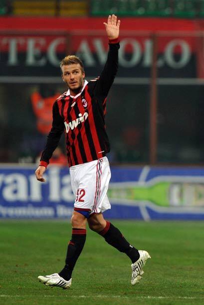 David Beckham regresó al AC Milan para reforzar a los 'Rossoneri'...