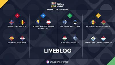 EN VIVO   Inició la actividad en el Día 6 en la UEFA Nations League