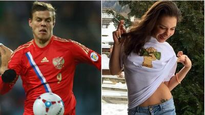 La actriz dijo que si Alexandr Kokorin hace cinco goleas ella pasará un...
