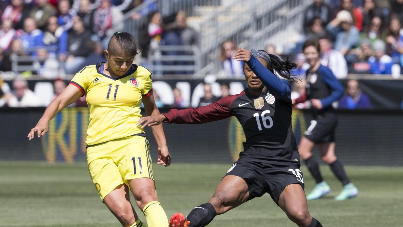 La selección femenina de Estados Unidos y la de Colombia se enfrentaron...
