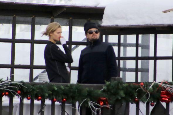 Leo DiCaprio y su novia en unas vacaciones heladas en los Alpes suizos....