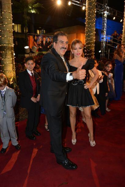 Fernando Fiore y Claudia Molina también llegaron a celebrar al Don. Clau...