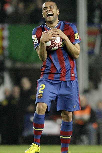 Los jugadores barcelonistas se desesperaban por la falta de gol.