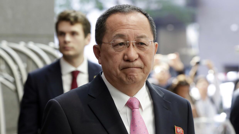 Ri Yong Ho, ministro de Relaciones Exteriores de Corea del Norte