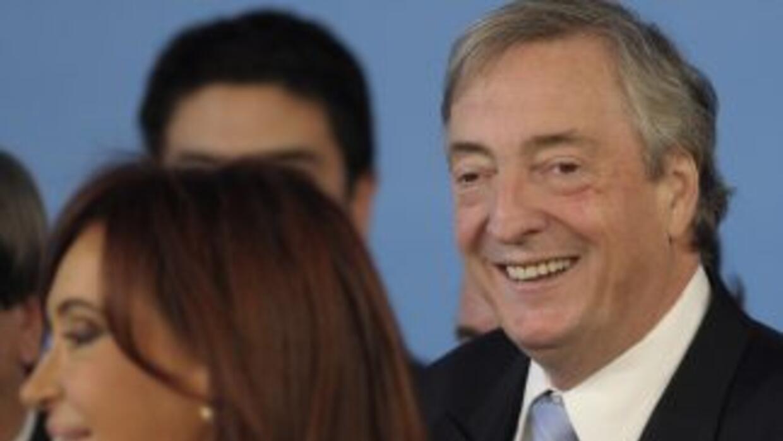 Nestor Kirchner y Cristina Fernández.
