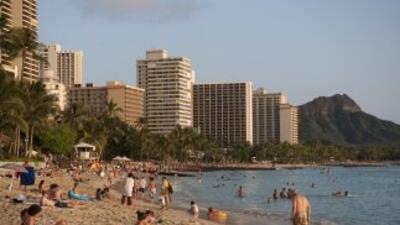 La playa de Waikiki, en Honolulu. En Hawai hay más de 120,000 hispanos.