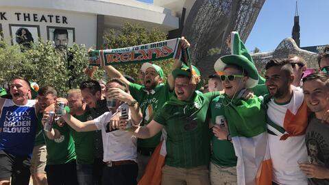 Fans de McGregor se robaron el show previo al pesaje oficial