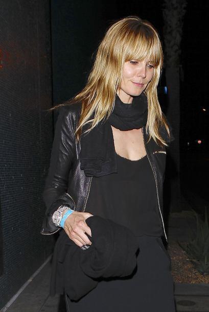 Encontramos a Heidi Klum en una misteriosa salida nocturna. Más v...
