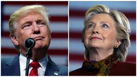 Los mensajes que dan los candidatos presidenciales Hillary Clinton y Don...