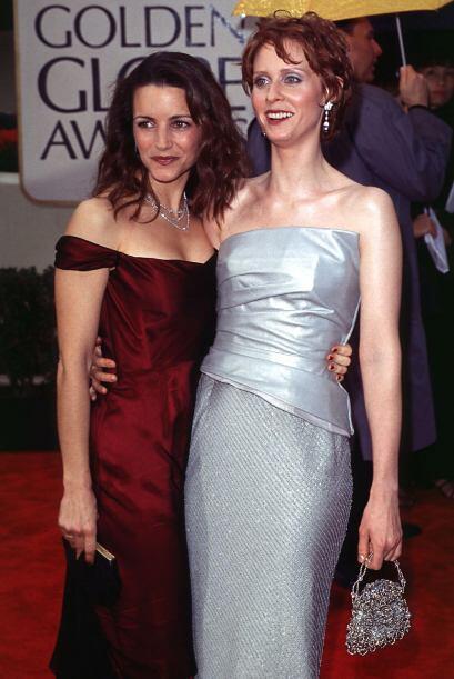La chicas de 'Sex and the City', Christin Davis y Cinthia Nixon lucieron...