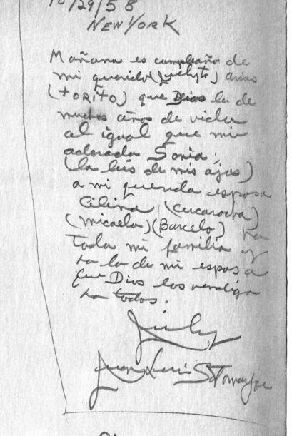 Notas escritas por el padre de Sonia Sotomayor descubiertas 54 años más...