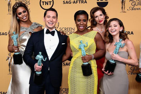 Parte del elenco de 'Orange is the New Black'. ¡Eran docenas de actores!