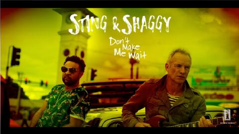 Recording artists Shaggy and Sting appear together on the cover art for...