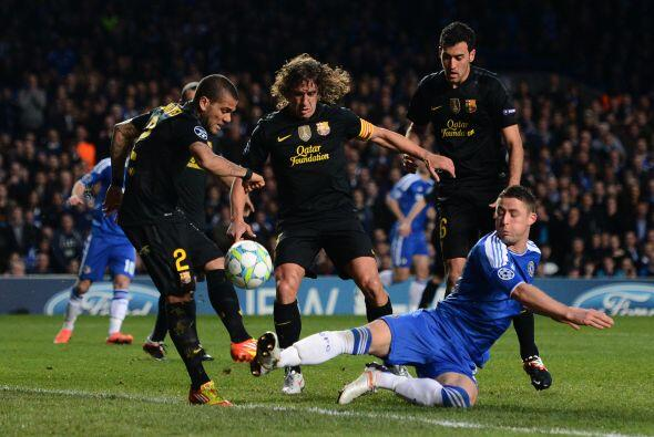 A balón parado, los 'Blues' tuvieron una oportunidad de marcar pero Dani...