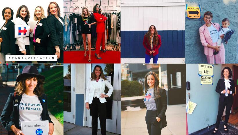 Mujeres votan en pantalones