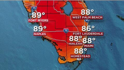 El verano llega a Miami con brisa y lluvia, incluso con posibilidad de t...