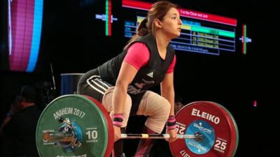 Andrea de la Herrán, talentosa y guapa pesista mexicana, medallista en Barranquilla 2018