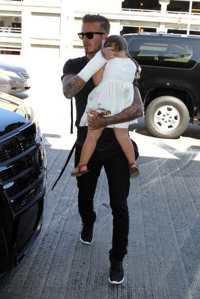 Pese a ello, Beckham demostró ser todo un súper papá, y más con su princ...