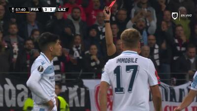 ¡Expulsión! El árbitro saca la roja directa a Joaquín Correa