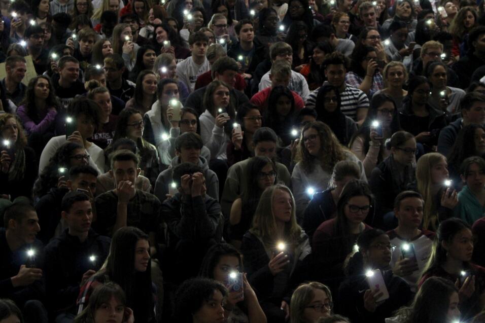Allentown, Pensilvania. Los estudiantes de la secundaria Parkland protes...