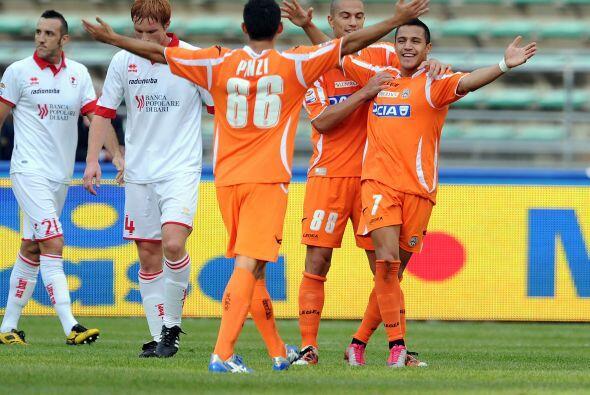 El marcador final favoreció a Udinese, que pese a jugar como visitante g...