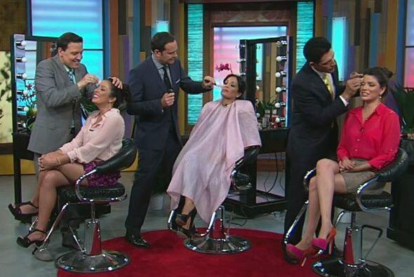 Alan Tacher, Johnny Lozada y Raúl González ''intentaron'' maquillar a su...