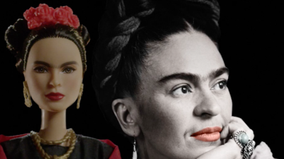 Frida Kahlo y su Barbie.
