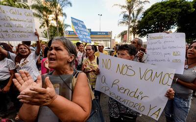 Durante 2016, los venezolanos han protestado en distintas ocasiones exig...