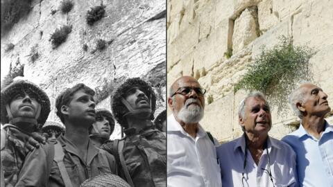 Reencuentro en Jerusalén de tres soldados israelies 50 año...