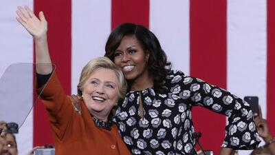 Michelle Obama y Hillary Clinton, de rivales a trabajar juntas