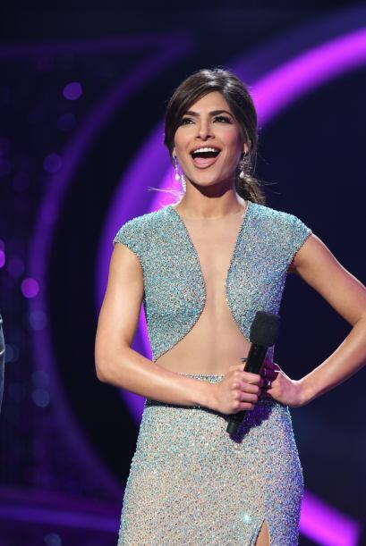 En la séptima gala lució un vestido de Jovani Fashions.
