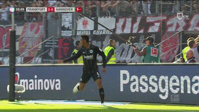 ¡Goool del Eintracht Frankfurt! Rebic pone el pase, De Guzmán lo mete