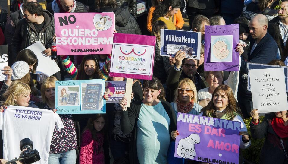 En Argentina unos días antes comenzaron las protestas por el dere...