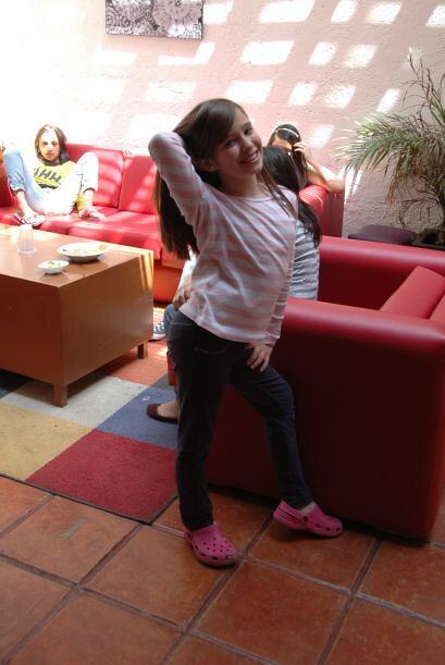 Amira también se animó a posar para unas cuantas fotitos.