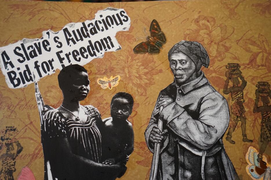 Muestras del trabajo artístico de Virginia Ayress sobre Tubman