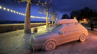 Fotos de autos castigados por el mal tiempo