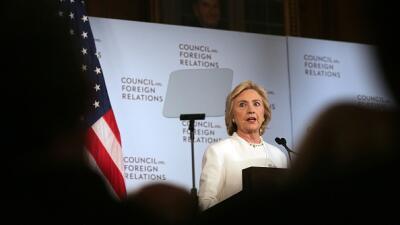 Hillary Clinton habla de su plan de seguridad y defensa en Washington