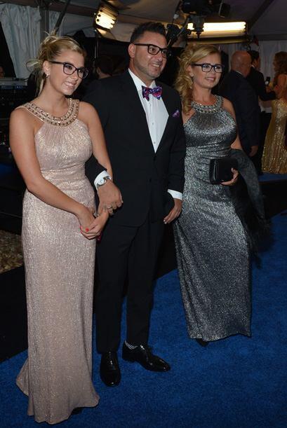 'El Turco' Mohamed feliz en familia y entre amigos del deporte.