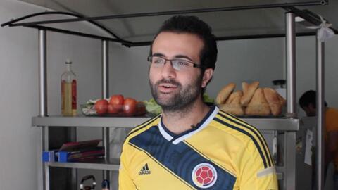 Almotaz, un refugiado sirio que llegó a Colombia